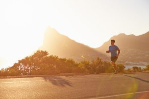 Man running in Cape Town