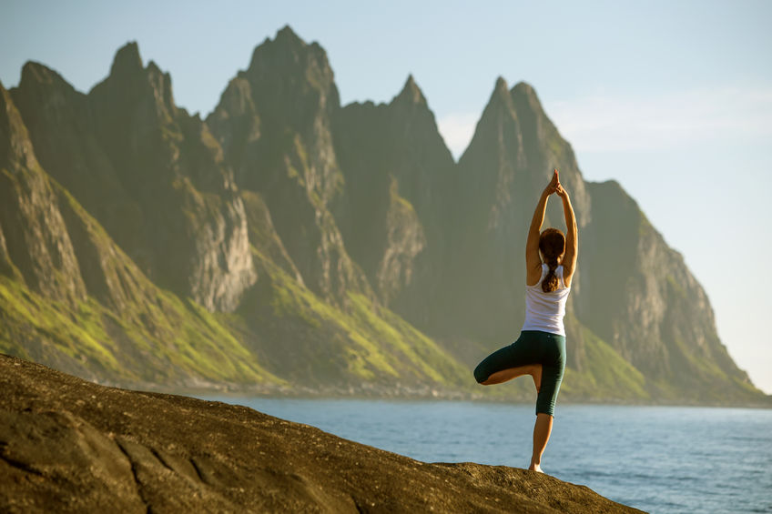 woman practicing yoga healthy taurine